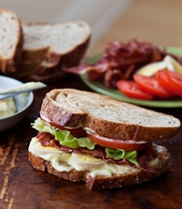 BLTs with Homemade Mayo and Pickled Eggs